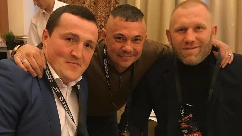 Денис Лебедев (слева), Костя Цзю (вцентре) иСергей Харитонов (справа). Фото Instagram