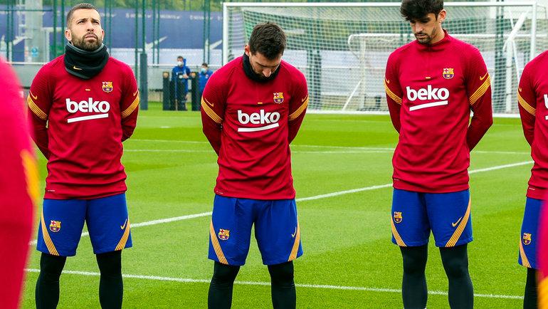 27ноября. Игроки «Барселоны» перед тренировкой. Фото Twitter