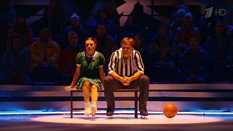 Мария Петрова и Дмитрий Сычев. Фото скриншот Первого канала