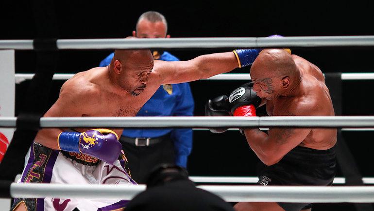 Бой между Майком Тайсоном иРоем Джонсом. Фото USA Today Sports