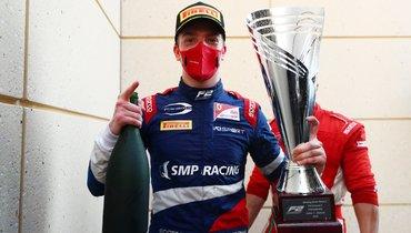 Шварцман выиграл вторую гонку «Формулы-2» вБахрейне, Мазепин— 2-й