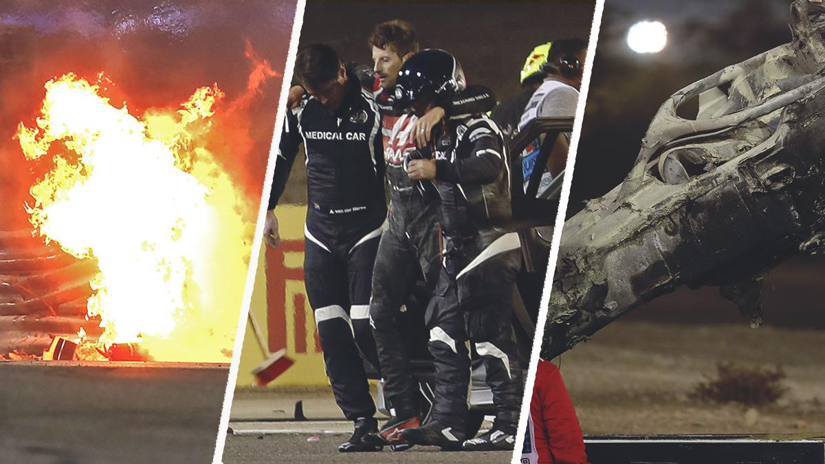 Страшная авария вБахрейне. Машина взорвалась, пилот «Формулы-1» выскочил изогня