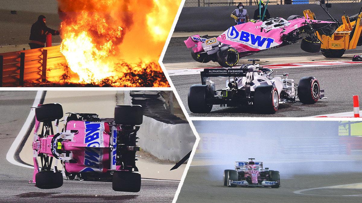 Выживший вогне Грожан идругие ужасы «Гран-при Бахрейна». Квят тоже участвовал вавариях