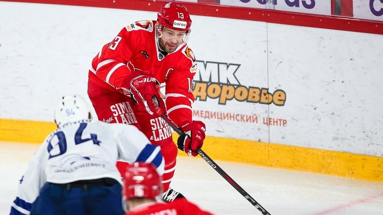 Павел Дацюк. Фото ХК «Автомобилист»
