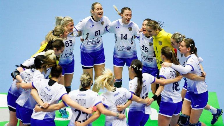 Как женская сборная России выступает начемпионате Европы вДании. Фото Федерация гандбола России