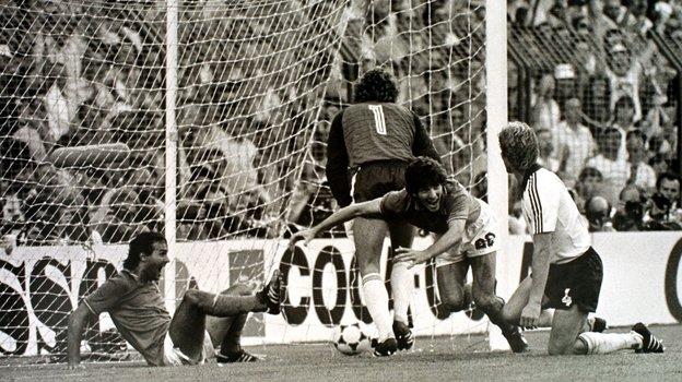 11июля 1982 года. Мадрид. Италия— ФРГ— 3:1. Гол Паоло Росси. Фото Федор Алексеев