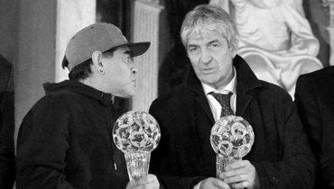 Паоло Росси (справа) иДиего Марадона.