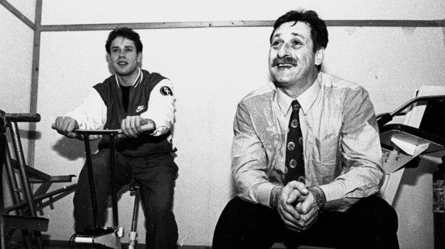 1995 год. Павел иВладимир Буре. Фото Дмитрий Солнцев