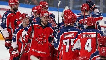 ЦСКА лидирует вчемпионате КХЛ.