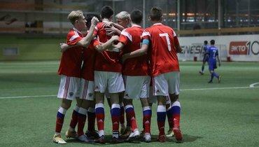Юношеская сборная России одержала победу над «Динамо»