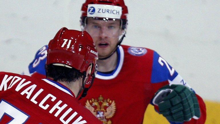 Алексей Терещенко (справа) иИлья Ковальчук наЧМ-2009. Фото Reuters