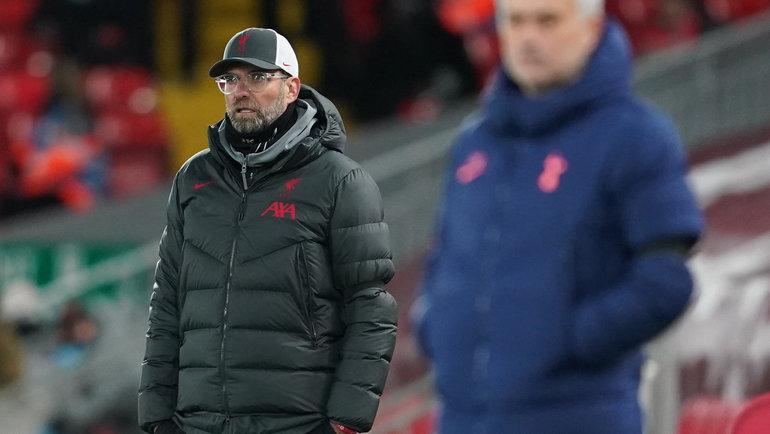 16декабря. «Ливерпуль»— «Тоттенхэм»— 2:1. Юрген Клопп (слева). Фото Reuters