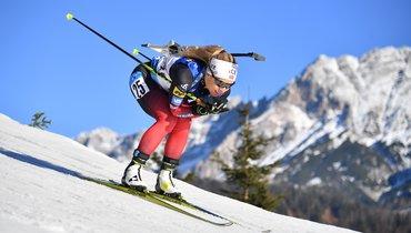 Женская гонка преследования вХохфильцене— 37-я гонка России без медалей. Онлайн