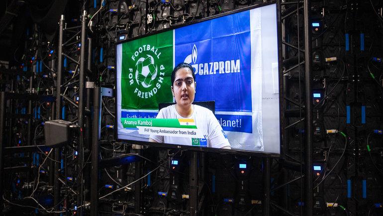 Акция стала частью проводимого ООН всемирного диалога #UN75 ипоиска новых решений для глобального сотрудничества. Фото media.footballforfriendship.com