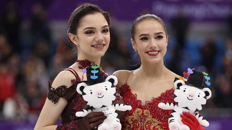 Евгения Медведева иАлина Загитова. Фото Reuters