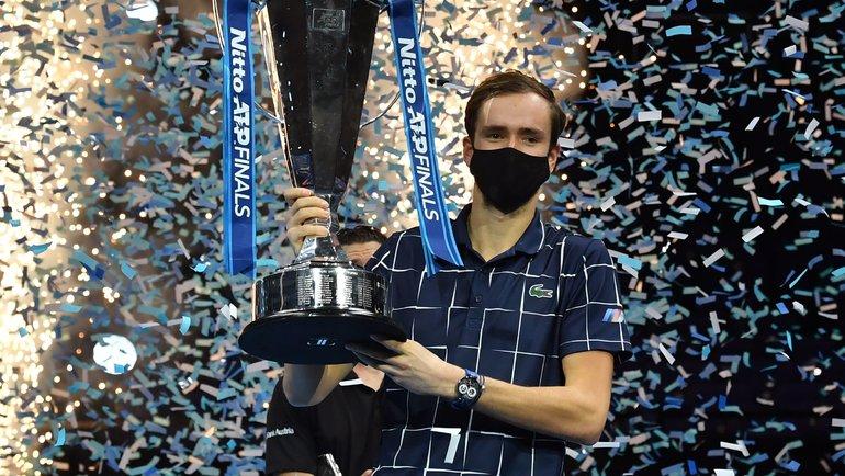 22ноября. Лондон. Даниил Медведев— победитель Итогового турнира ATP. Фото AFP