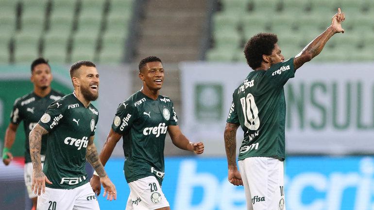 28декабря. Сан-Паулу. Стадион «Альянс Парке». «Палмейрас»— «Брагантино»— 1:0. Луиз Адриану празднует гол. Фото Instagram