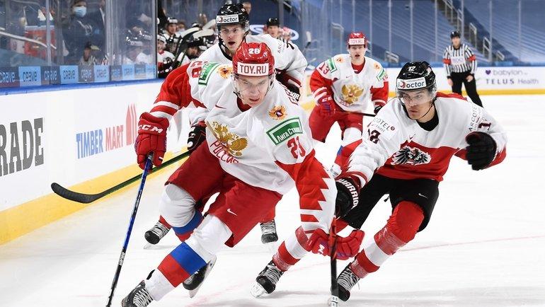 Россия победила Австрию наМЧМ-2021. Фото IIHF