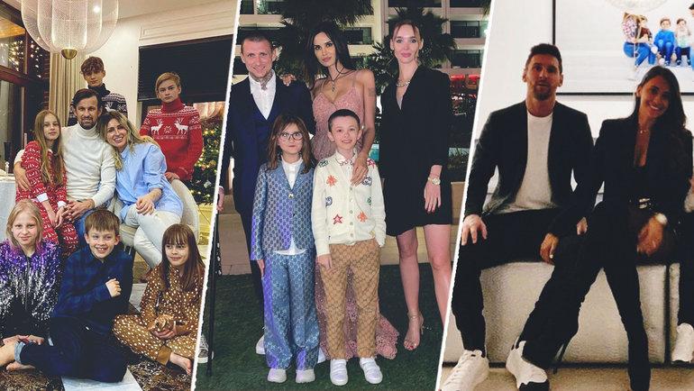 Новый год семьи Сергея Семака, Павла Мамаева иЛионеля Месси. Фото Instagram