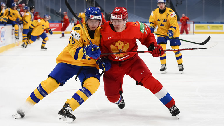31декабря 2020 года. Эдмонтон. Россия U20— Швеция U20— 4:3 ОТ. Фото ФХР