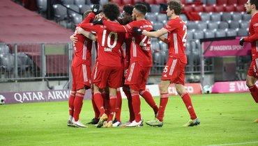 «Бавария» затайм отыгралась сосчета 0:2, забив «Майнцу» пять мячей