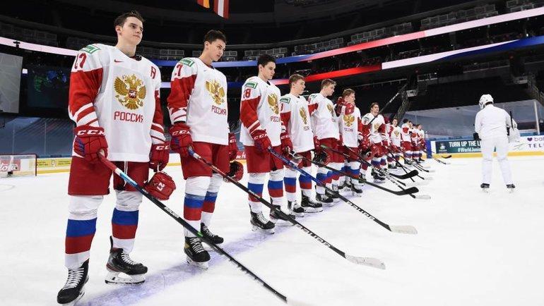 Россия— против Канады в1/2 финала МЧМ-2021 вЭдмонтоне. Фото IIHF