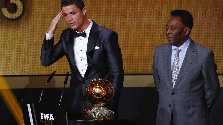 Пеле (справа) иКриштиану Роналду. Фото Reuters