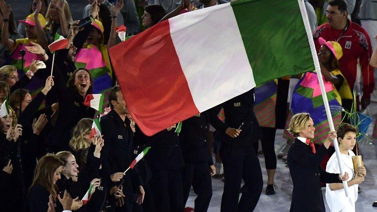 Флаг Италии на летней Олимпиаде-2016. Фото AFP