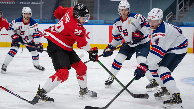 Молодежная сборная США обыграла Канаду. Фото Федерация хоккея Канады.