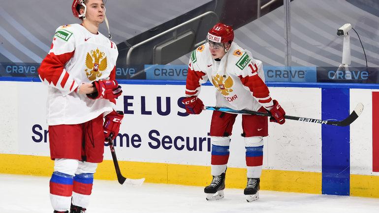 Игроки сборной России после поражения. Фото IIHF