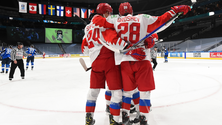6января. Эдмонтон. Финляндия— Россия— 4:1. Фото IIHF