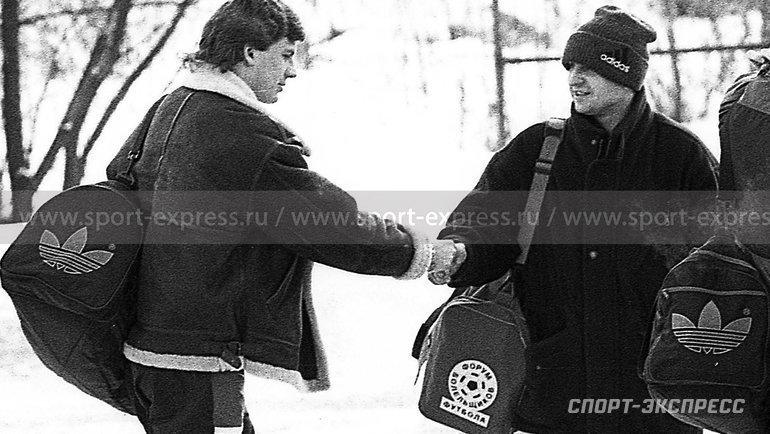 """Январь 1995 года. Андрей Афанасьев (слева) иФедор Черенков. Фото """"СЭ"""""""