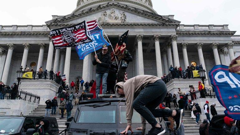 Сторонники Трампа устроили беспорядки вСША иворвались вКапитолий. Фото AFP