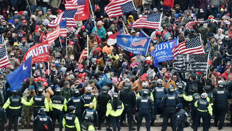 Сторонники Трампа устроили беспорядки вСША. Фото AFP