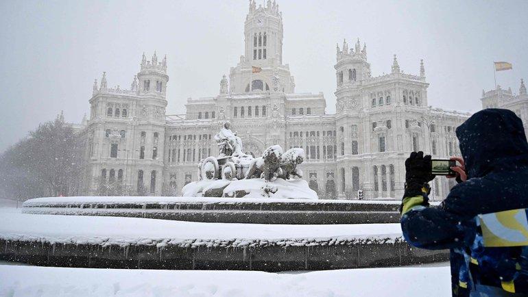 Снегопад вМадриде. Фото AFP