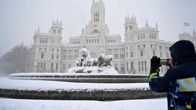 Снегопад в Мадриде. Фото AFP