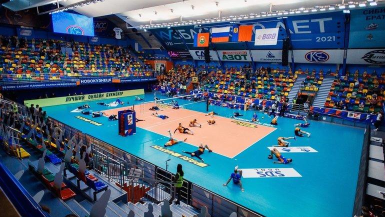 Центральная игра тура. Фото vk.com/kuzbassvolley