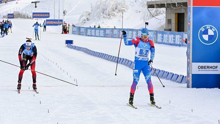 Победный финиш Эдуарда Латыпова. Фото AFP