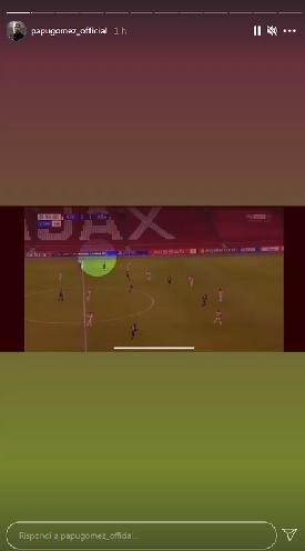 Сторис из Instagram Алехандро Гомеса. Фото Instagram