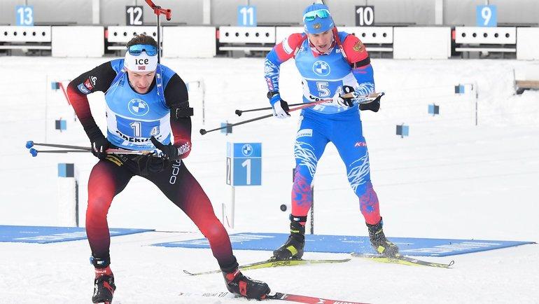 Эдуард Латыпов (справа) на финише опередил Штурлу Легрейда, хотя норвежец имел над ним перевес. Фото Reuters