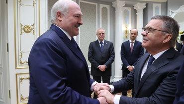 Александр Лукашенко иРене Фазель.