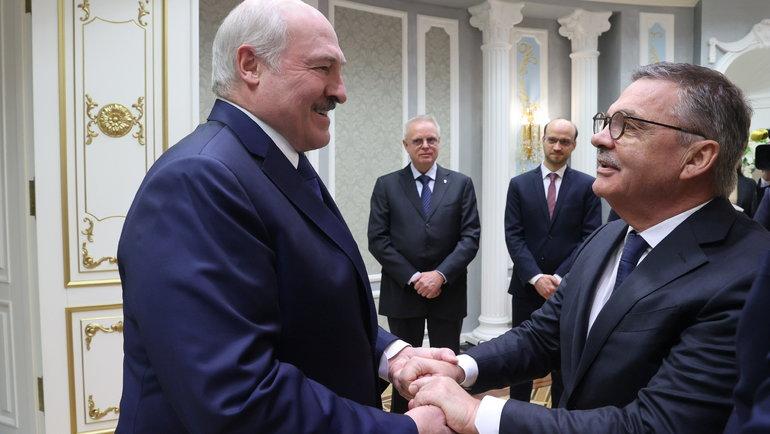 Александр Лукашенко иРене Фазель. Фото Reuters