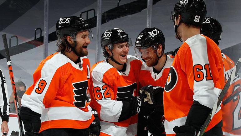 «Филадельфия» обыграла «Питтсбург» вматче регулярного чемпионата НХЛ. Фото nhl.com