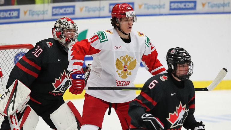 Финальный матч молодежного чемпионата мира-2020 Канада— Россия. Фото ФХР
