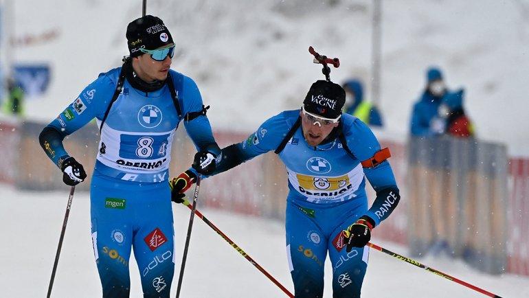 Фабьен Клод (справа) иЭмильян Жаклен. Фото AFP