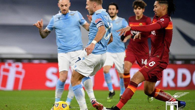 «Лацио» обыграл «Рому». Фото ФК «Лацио».