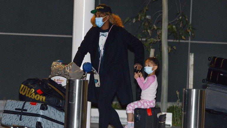Серена Уильямс сдочерью. Фото AFP