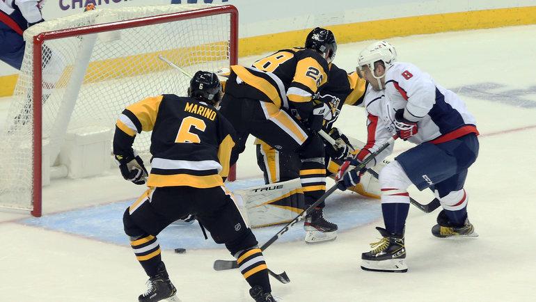 17января. Питтсбург. «Питтсбург»— «Вашингтон»— 4:3Б. Гол Александра Овечкина (№8). Фото USA Today Sports