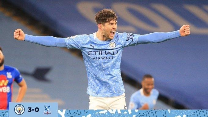 «Манчестер Сити»— «Кристал Пэлас»— 4:0. Автор дубля Джон Стоунс. Фото «Манчестер Сити»