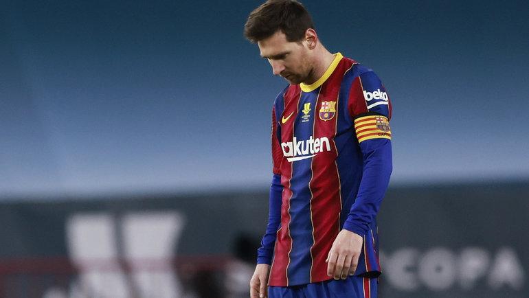 Лионель Месси впервые получил красную карточку всоставе «Барселоны». Фото Reuters